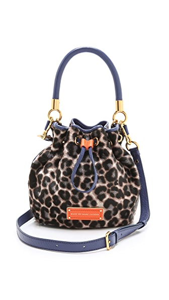 Marc by Marc Jacobs Too Hot to Handle Leopard Haircalf Drawstring Bag
