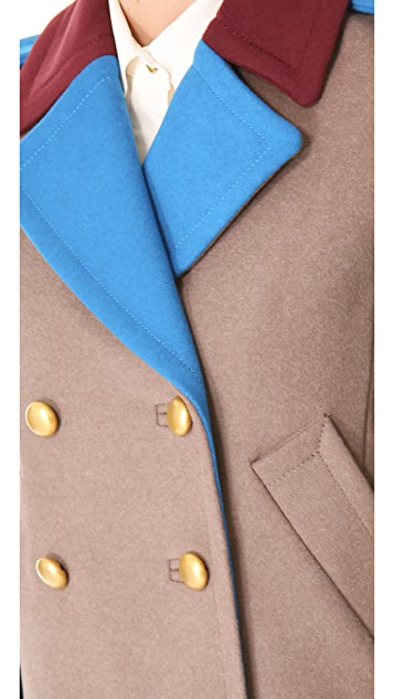 Marc by Marc Jacobs Nicoletta Colorblock Wool Jacket