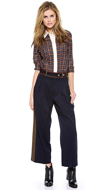 Marc by Marc Jacobs Spongy Wool Twill Wide Leg Pants