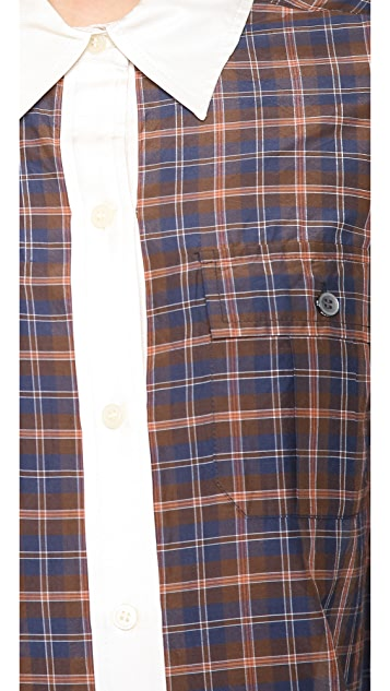 Marc by Marc Jacobs Abigail Plaid Button Down Shirt