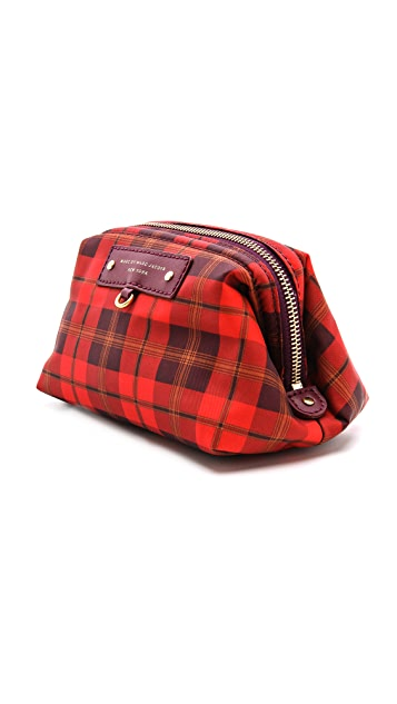 Marc by Marc Jacobs Preppy Nylon Aimee Plaid Framed Big Blitz Pouch