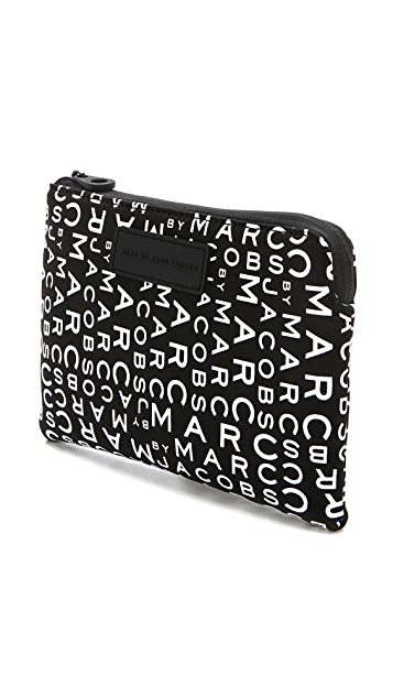 Marc by Marc Jacobs MBMJ New Jumble Logo Neoprene Tablet Mini Case