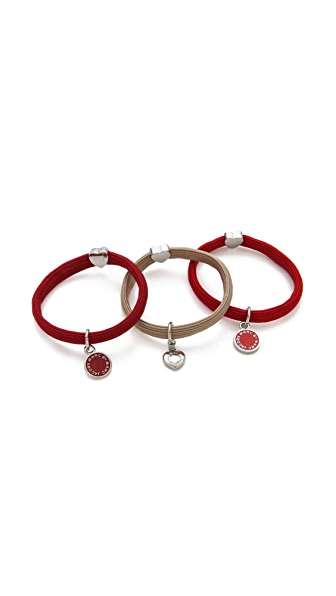 Marc by Marc Jacobs Enamel Disc Cluster Pony Hair Ties