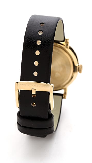 Marc by Marc Jacobs Leather Baker Watch