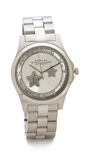 Marc by Marc Jacobs Icon Cutout Automatic Watch