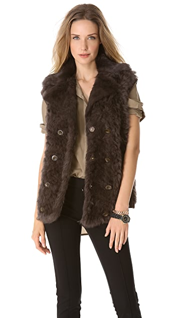 Marc by Marc Jacobs Dukie Fur Vest