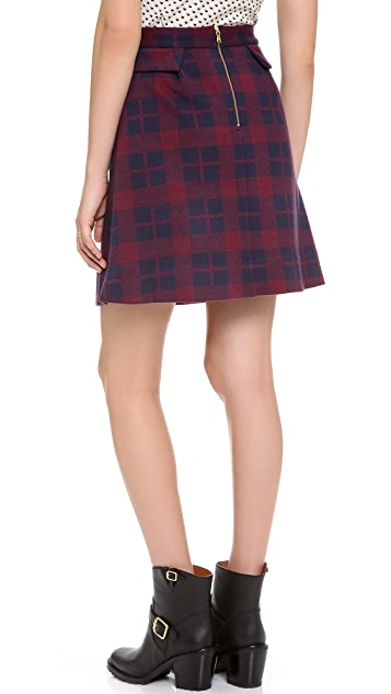 Marc by Marc Jacobs Maya Plaid Skirt
