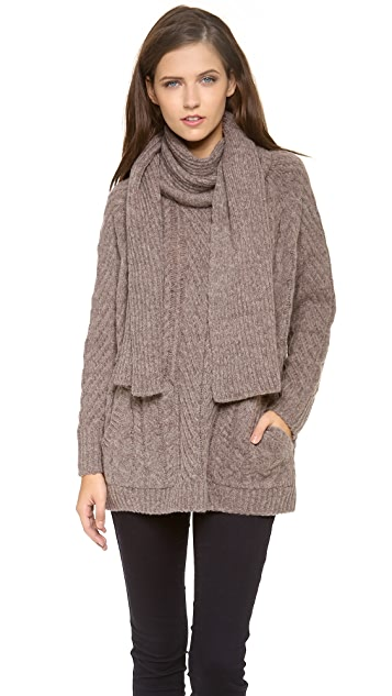 Marc by Marc Jacobs Connolly Scarf Sweater