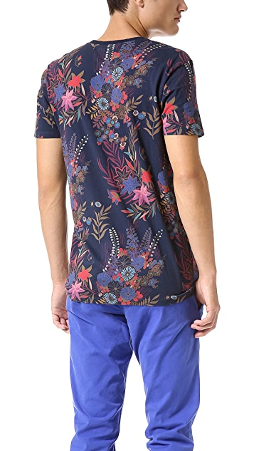 Marc by Marc Jacobs Wichita Floral Crew Neck Tee