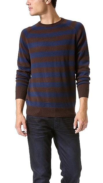 Marc by Marc Jacobs Yukon Stripe Crew Neck Sweater