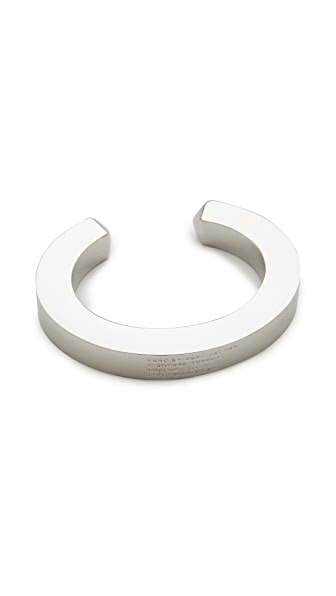 Marc by Marc Jacobs Standard Plaque Simple Cuff Bracelet