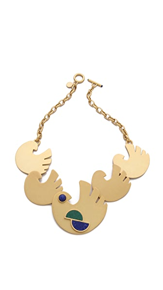 Marc by Marc Jacobs Peacock Flock Necklace