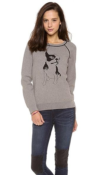Marc by Marc Jacobs Olive Dog Intarsia Sweatshirt