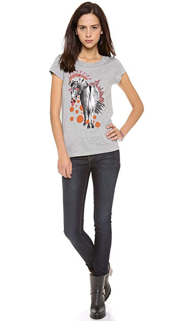 Marc by Marc Jacobs Zebra Printed Tee