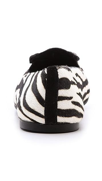 Marc by Marc Jacobs Zebra Haircalf Flats