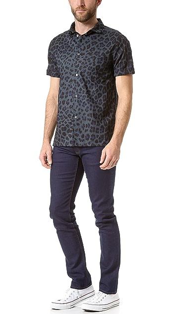 Marc by Marc Jacobs London Leopard Short Sleeve Shirt