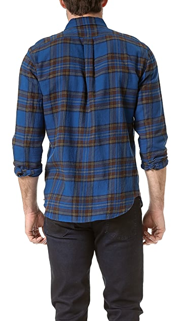 Marc by Marc Jacobs Putney Brushed Plaid Sport Shirt
