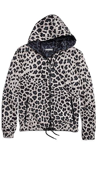 Marc by Marc Jacobs London Leopard Zip Up Hooded Windbreaker