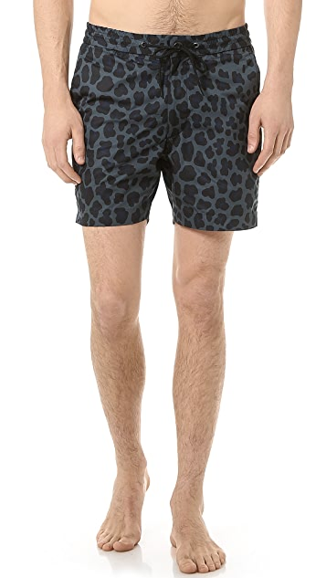 Marc by Marc Jacobs London Leopard Swim Trunks