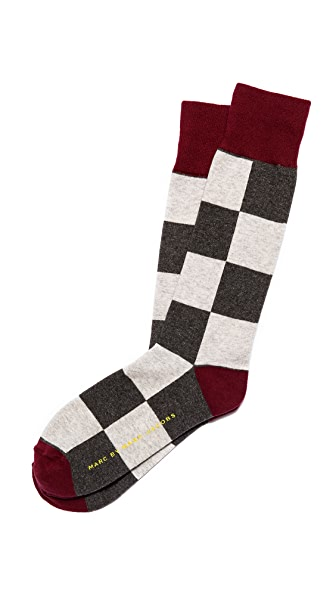 Marc by Marc Jacobs Large Checkered Socks