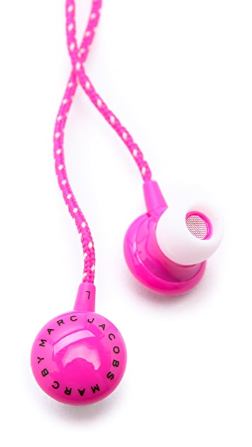 Marc by Marc Jacobs Logo Disc Earbuds