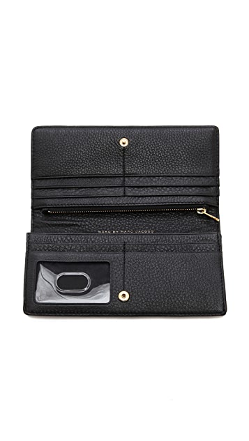 Marc by Marc Jacobs Single Snap Long Wallet