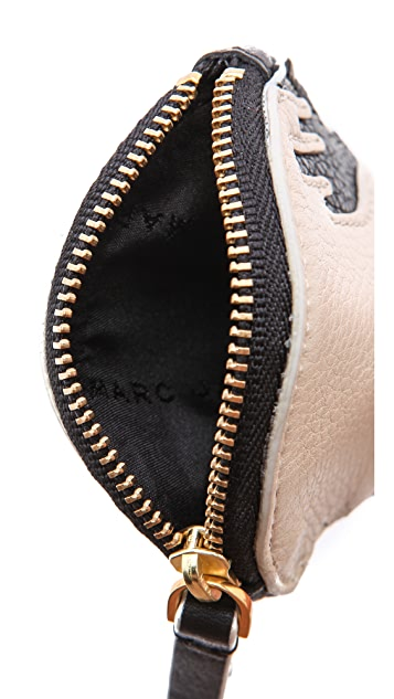 Marc by Marc Jacobs Olive Animal Zip Pouch