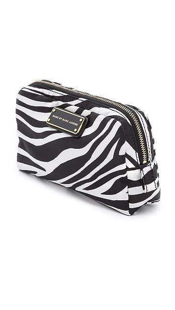 Marc by Marc Jacobs Zebra Nylon Cosmetic Bag