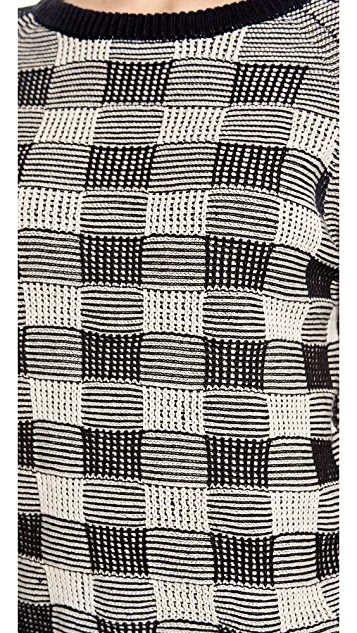 Marc by Marc Jacobs Check Mesh Sweater