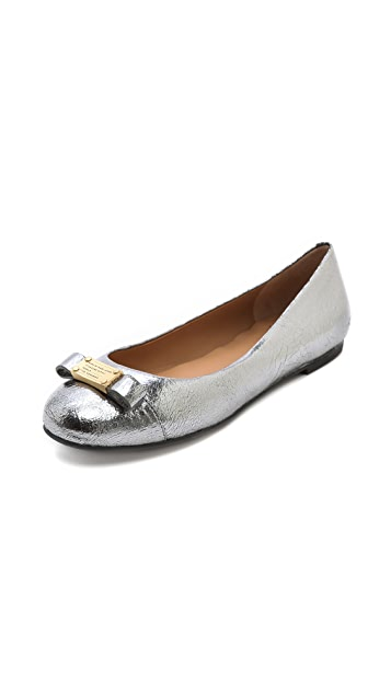 Marc by Marc Jacobs Metallic Logo Plaque Flats