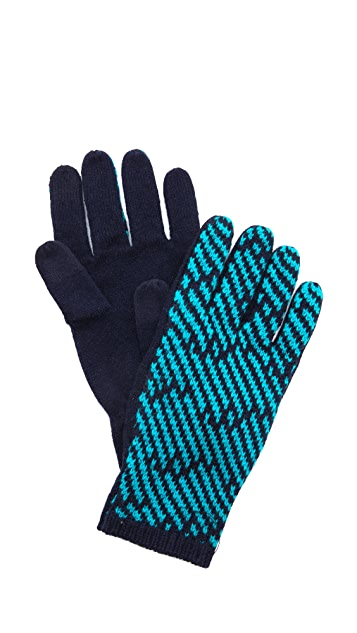 Marc by Marc Jacobs Slash Chevron Gloves