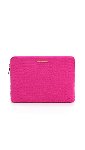 "Marc by Marc Jacobs In A Bind Neoprene Croc Embossed 13"" Computer Case"