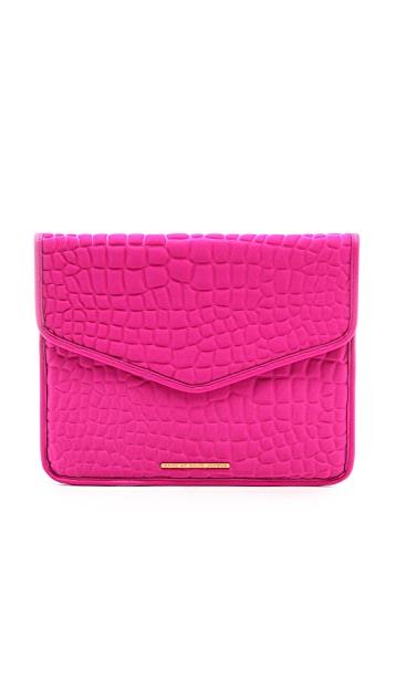 Marc by Marc Jacobs Neoprene Croc Embossed Tablet Envelope Clutch