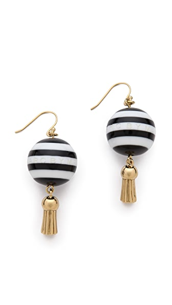 Marc by Marc Jacobs Striped Bead Drop Earrings
