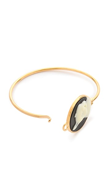 Marc by Marc Jacobs Olive Cameo Hinge Cuff Bracelet