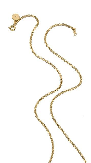 Marc by Marc Jacobs Zebra Pendant Coin Necklace
