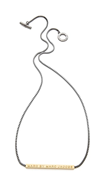 Marc by Marc Jacobs Long Letterpress Necklace