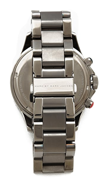 Marc by Marc Jacobs Rock Chronograph Watch with Steel Bracelet