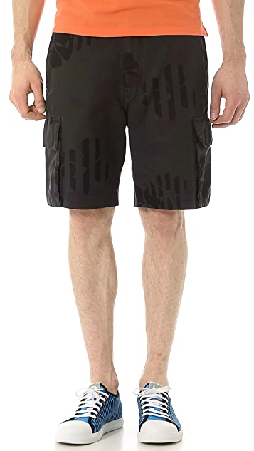 Marc by Marc Jacobs Laguna Floral Cotton Twill Shorts