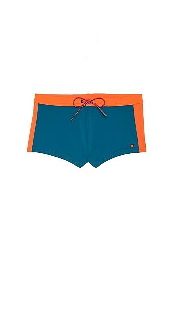 Marc by Marc Jacobs Colorblock Swim Trunks