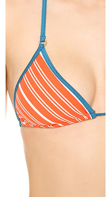 Marc by Marc Jacobs Tara Stripe Triangle Bikini Top