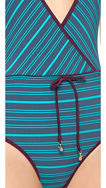 Marc by Marc Jacobs Tara Stripe Halter Maillot