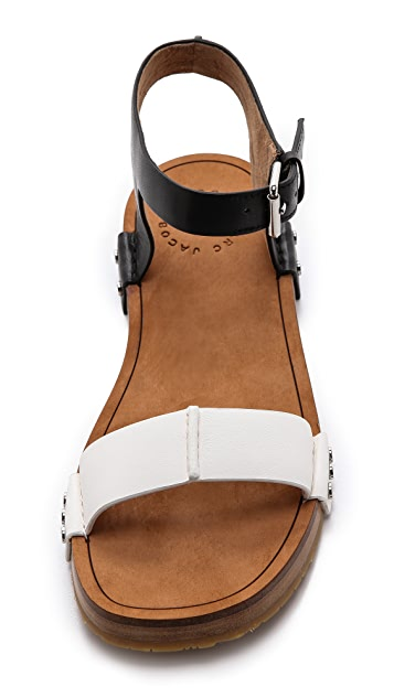 Marc by Marc Jacobs Nailed It Flat Buckle Sandals