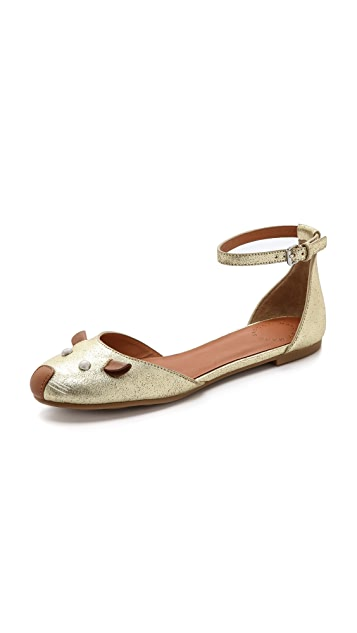 Marc by Marc Jacobs Mouse Ankle Wrap d'Orsay Flats