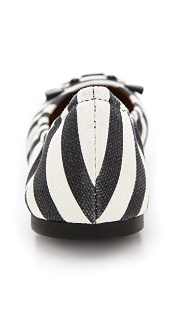 Marc by Marc Jacobs Mouse Jail Stripe Elastic Flats