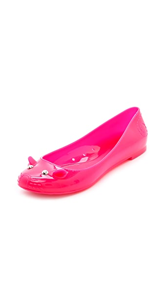 Marc by Marc Jacobs Mouse Jelly Ballet Flats
