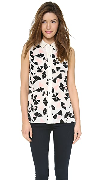 Marc by Marc Jacobs Pinwheel Flower Blouse
