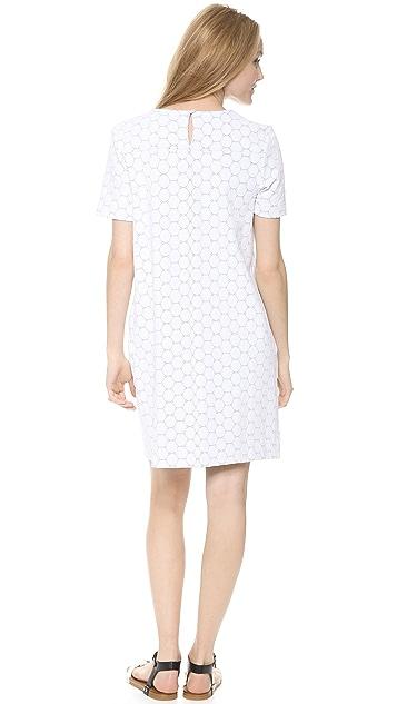 Marc by Marc Jacobs Leyna Dotty Ponte Short Sleeve Dress