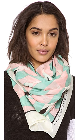 Marc by Marc Jacobs Diamond Flame Print Scarf