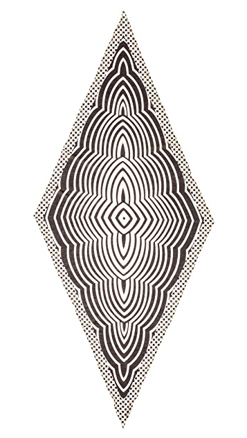 Marc by Marc Jacobs Radio Waves Diamond Scarf